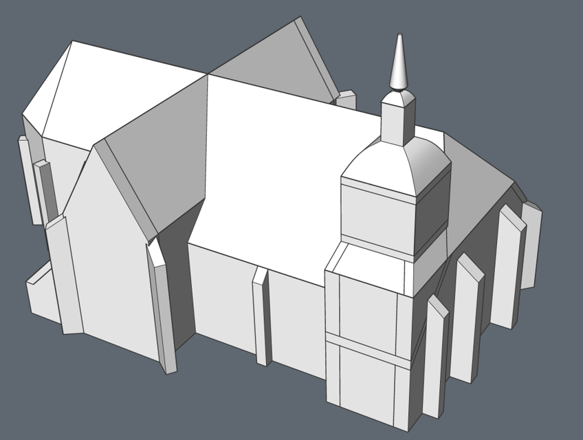 modeling a church in CAD step by step