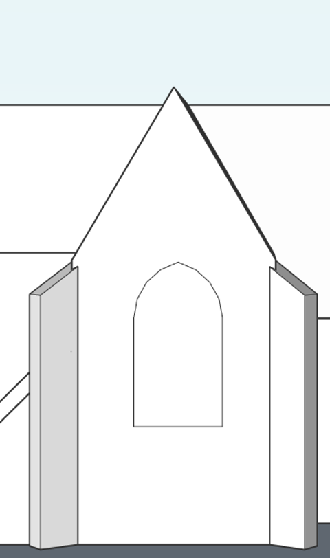 window of church how to model