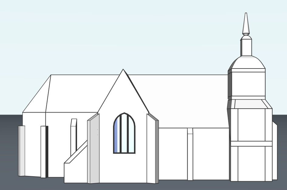 window model a church how to guide BIM