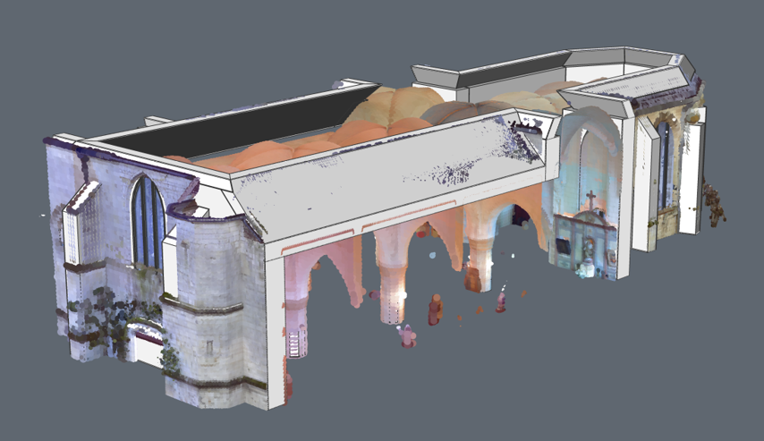 arches point cloud church 3D modeling