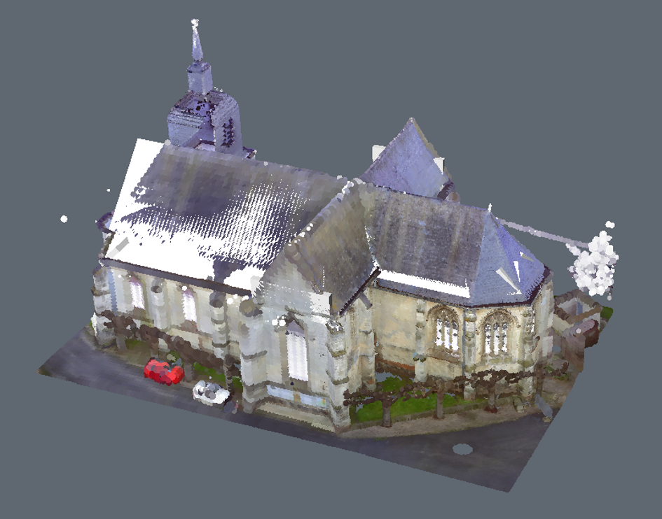 church from point cloud BIM model CAD