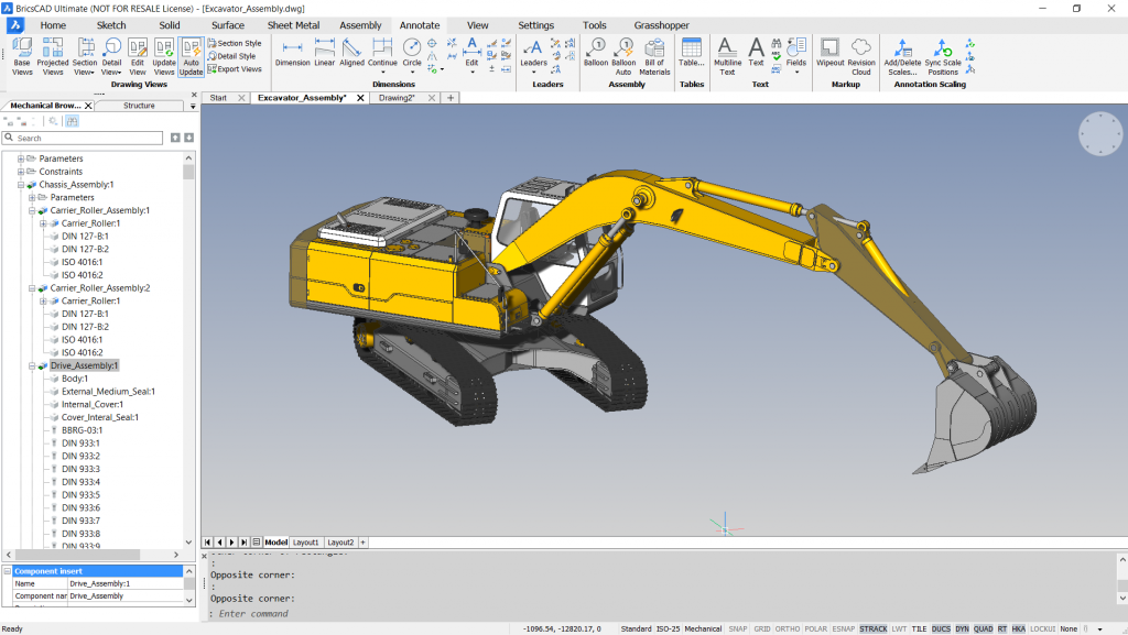user interface BricsCAD Autodesk inventor CAD