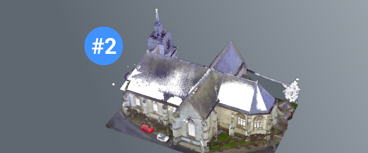 Point Cloud to a BIM Model – Modeling a Church – 2 Windows and Towers