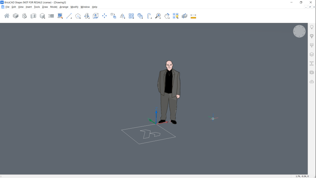 drawing flat bricscad shape