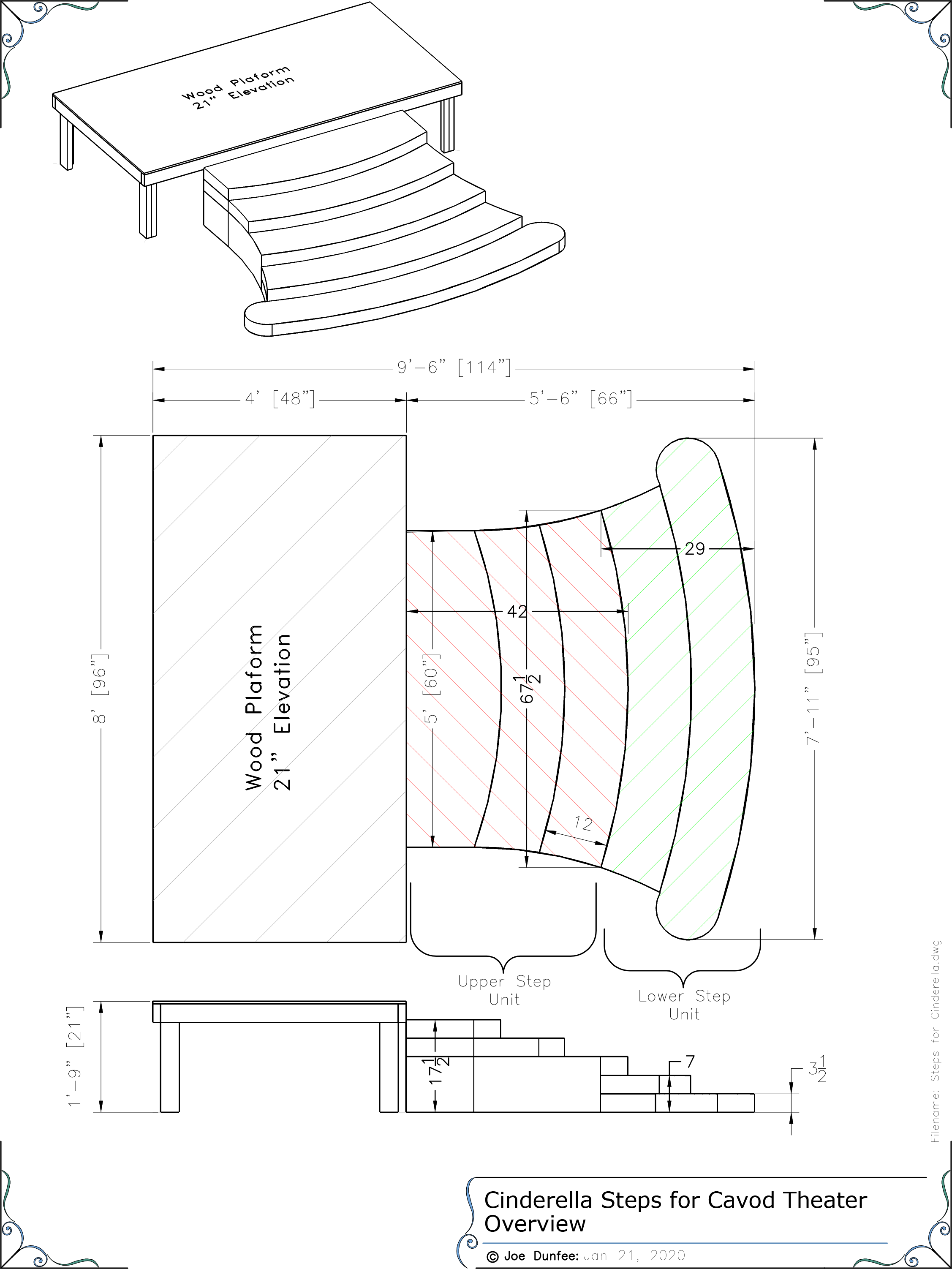 theatre stage design the steps for cinderella plan view