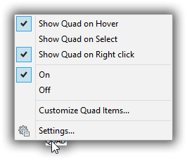 customize the quad BricsCAD