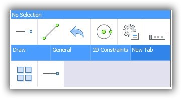 custom command added to quad BRicsCAD