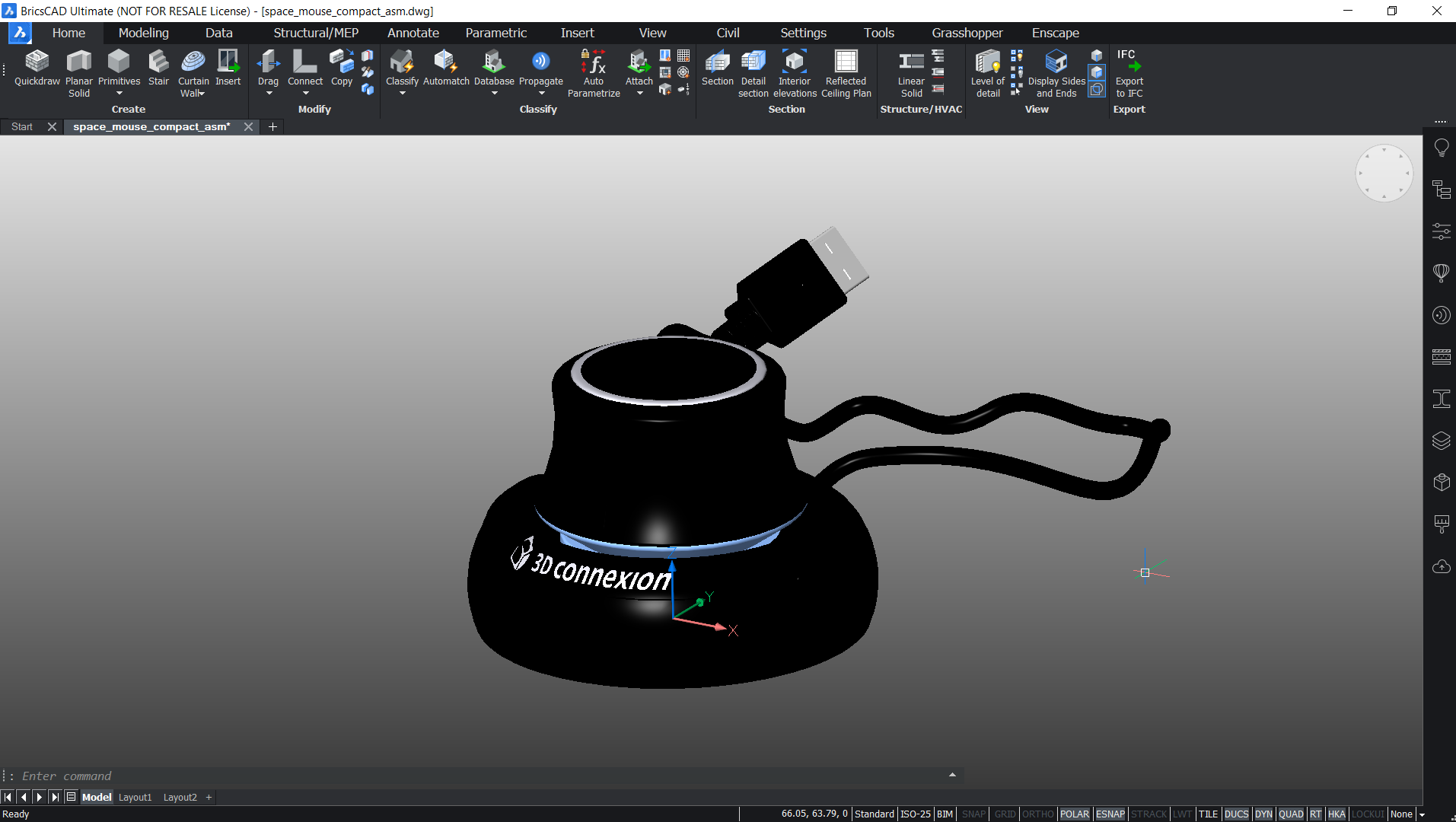 3d mouse in BricsCAD