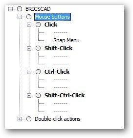 customize mouse buttons BricsCAD
