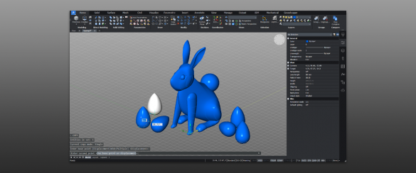 how to model a 3D easter bunny in BricsCAD