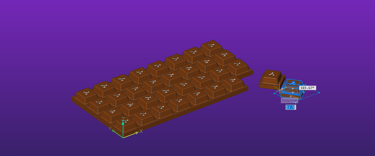 3D Model a Bar of Chocolate – Easy Builds