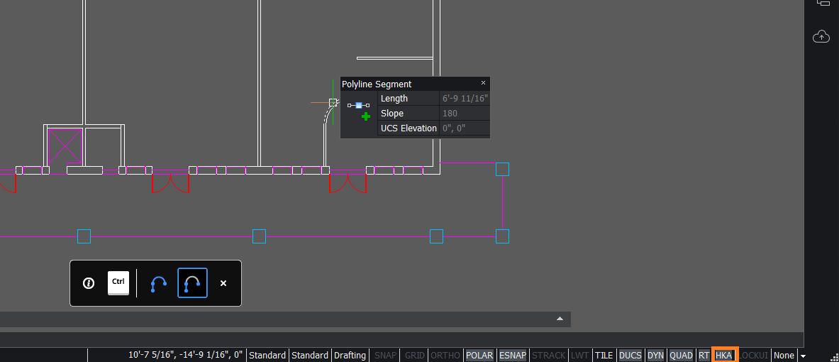 AutoCAD selection methods in BricsCAD edit and modify entites quickly