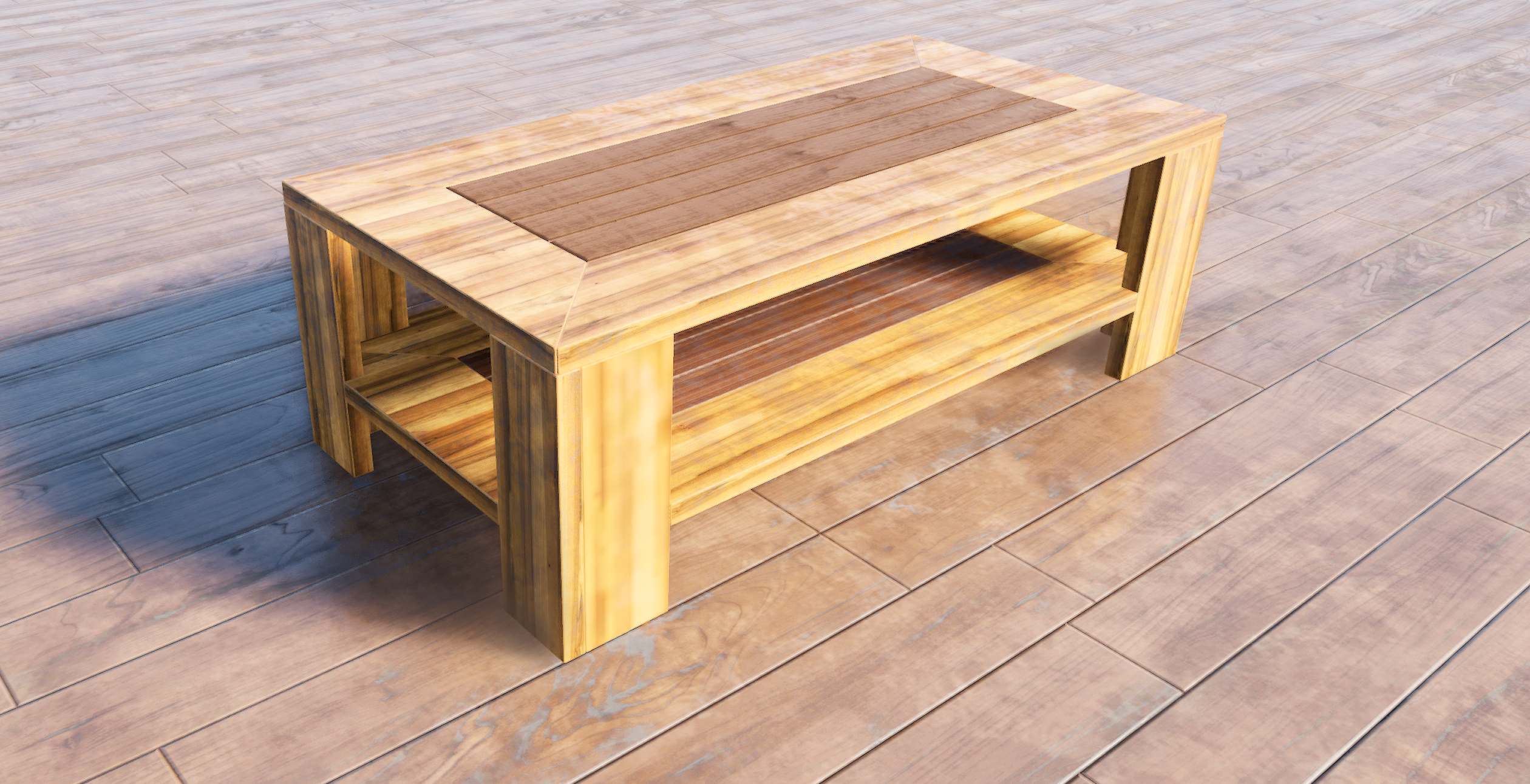 Rendered coffe table 3D model