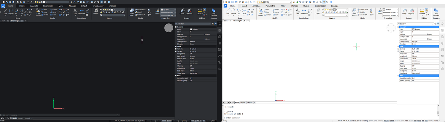 BricsCAD User interface for AutoCAD users