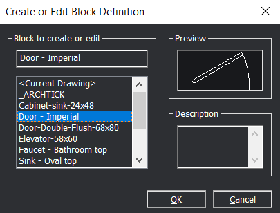 Edit block bricsCAD CAD