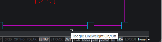 Line weight display on and off