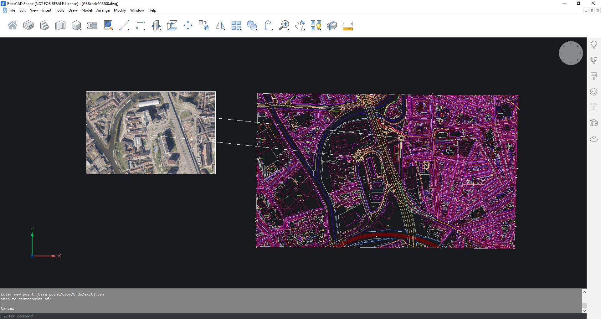 open source free gis data in BricsCAD