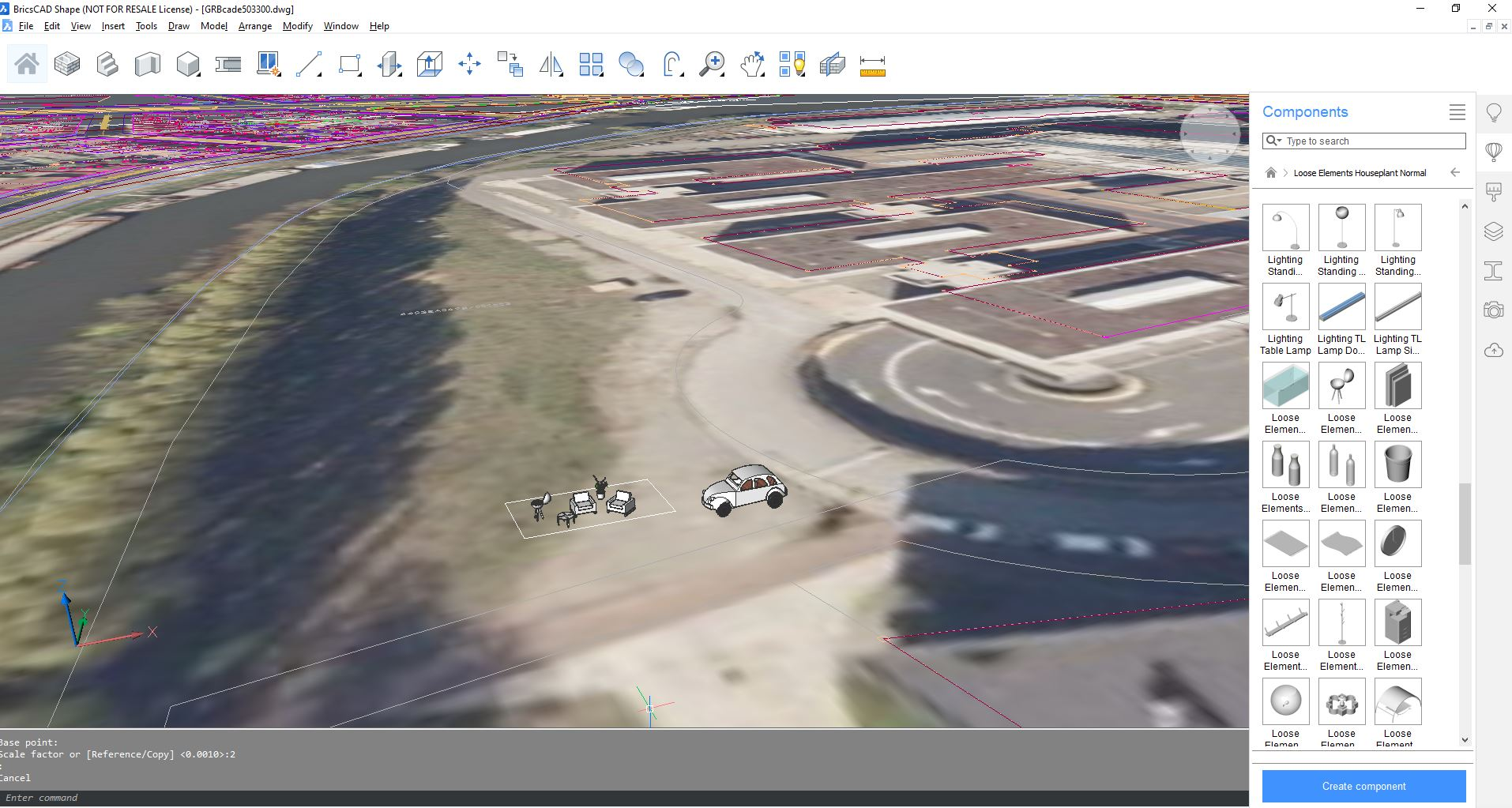 darbas su geospacial data bricscad free open source