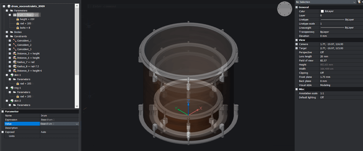 Make a Drum Kit With Parametric Modeling – Easy Builds