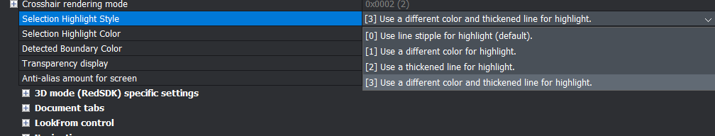 cursor hover change settings bricscad