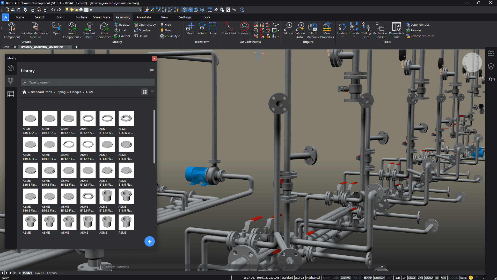 new for BricsCAD® Pro V21 200+ paraemtric pipe parts