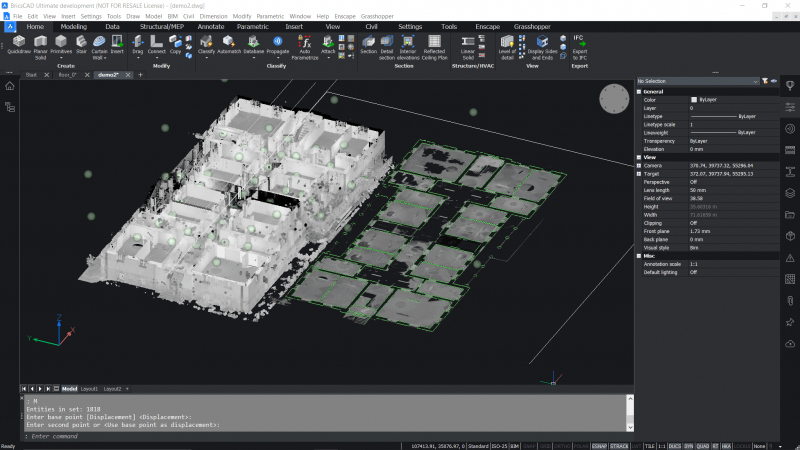 new features bricscad v21 point cloud