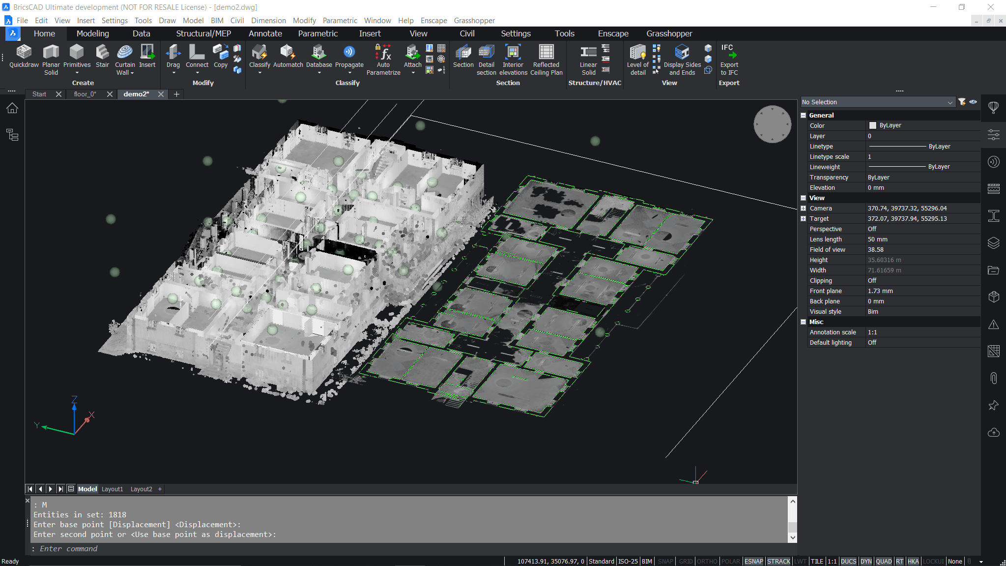 "naujos funkcijos ""bricscad v21 point cloud dwg"""