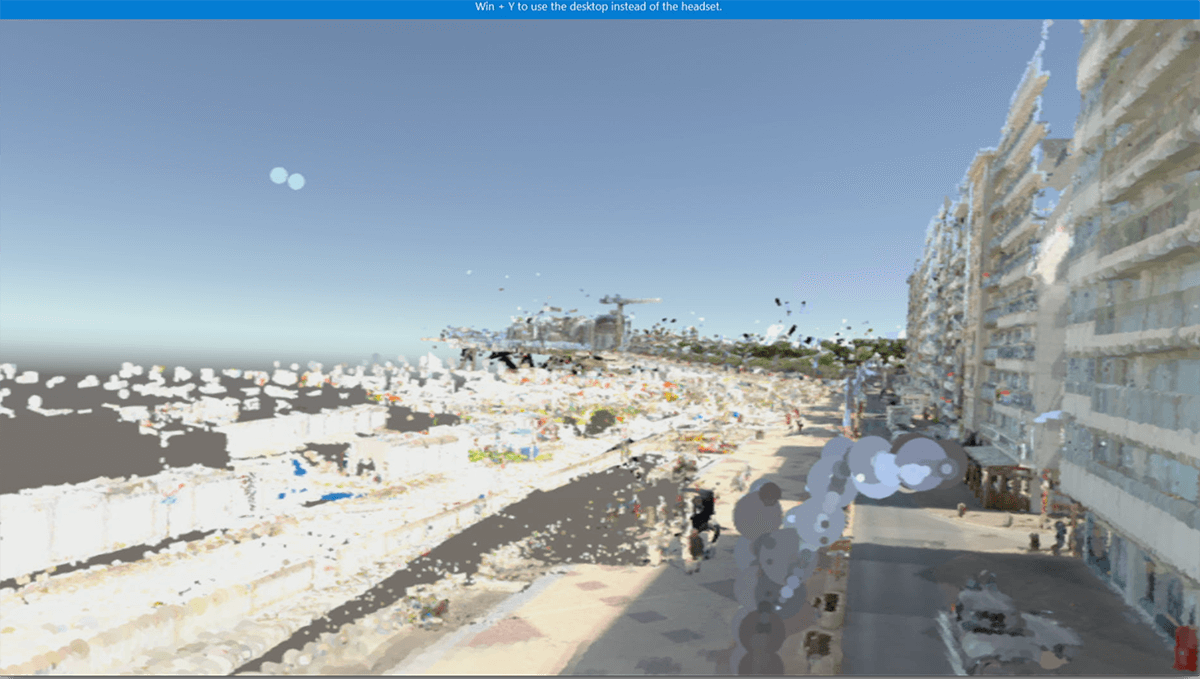 virtual reality screen shot of a beach