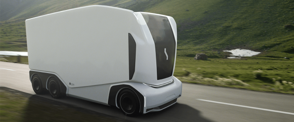 Self driving electric truck the pod aet