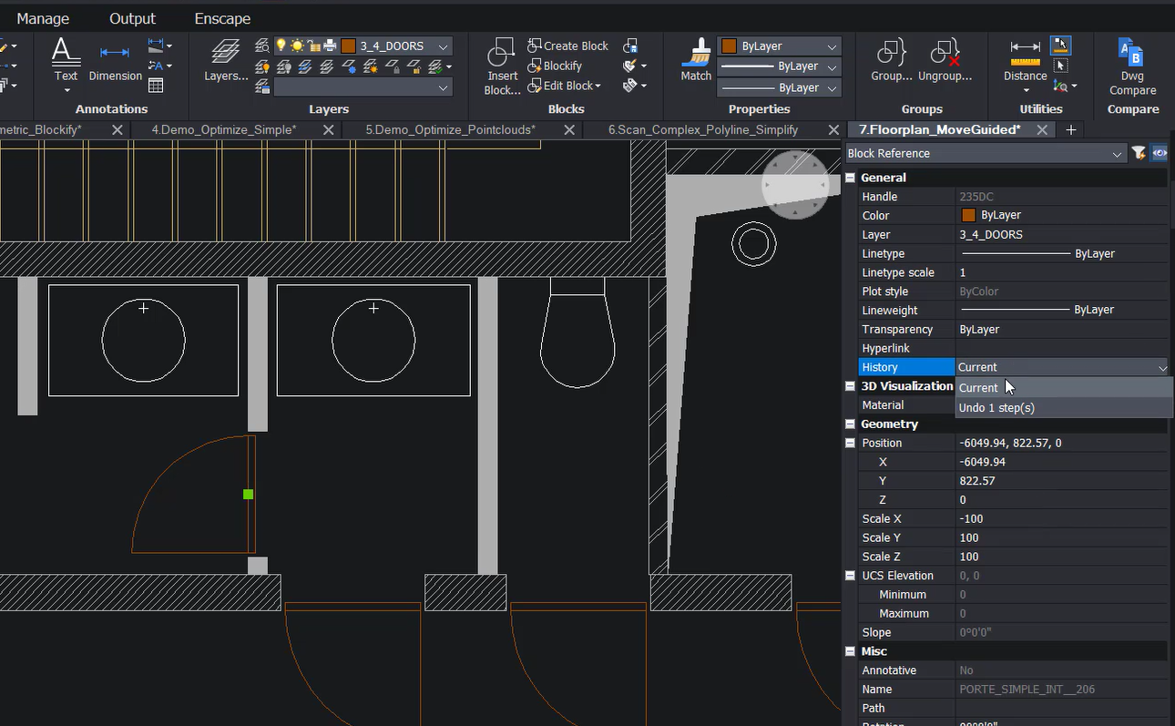 New features for bricscad v21 lite move guided