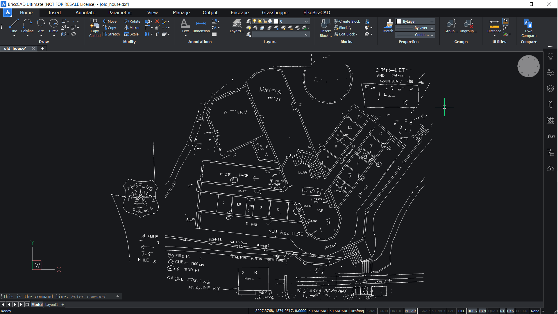 converted dwg result