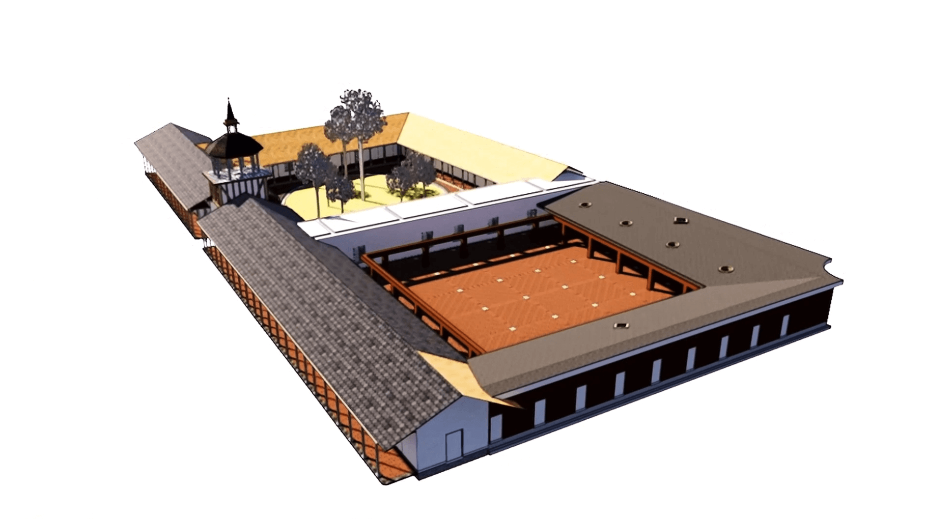 CAD model of historical landmark building