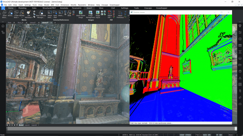point cloud improvments for BricsCAD v21