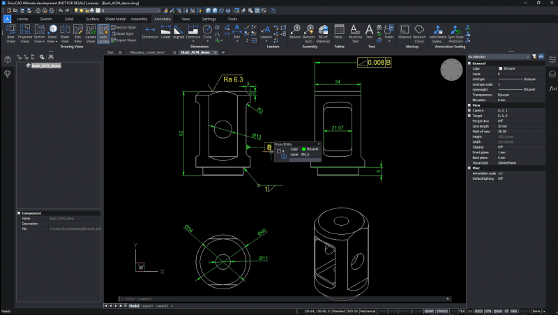 improved proxy objects BricscAD Mechanical V21 new features