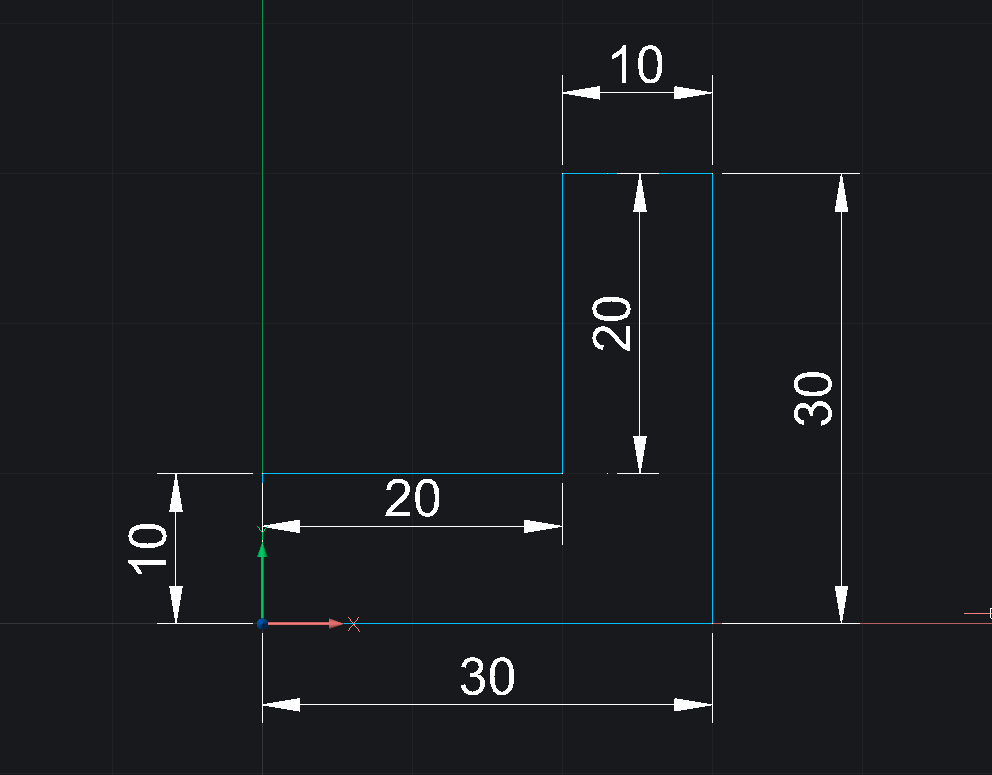draw l shaped polyline