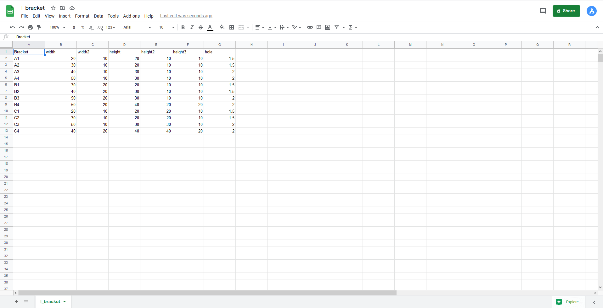 csv file in google docs