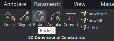 the radius constraint