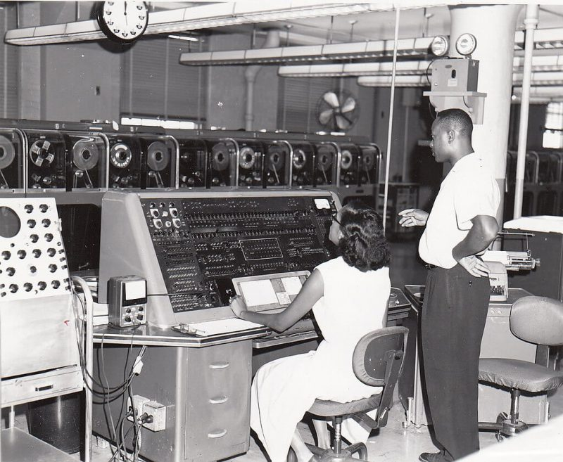 First computer programmers at work Univac I