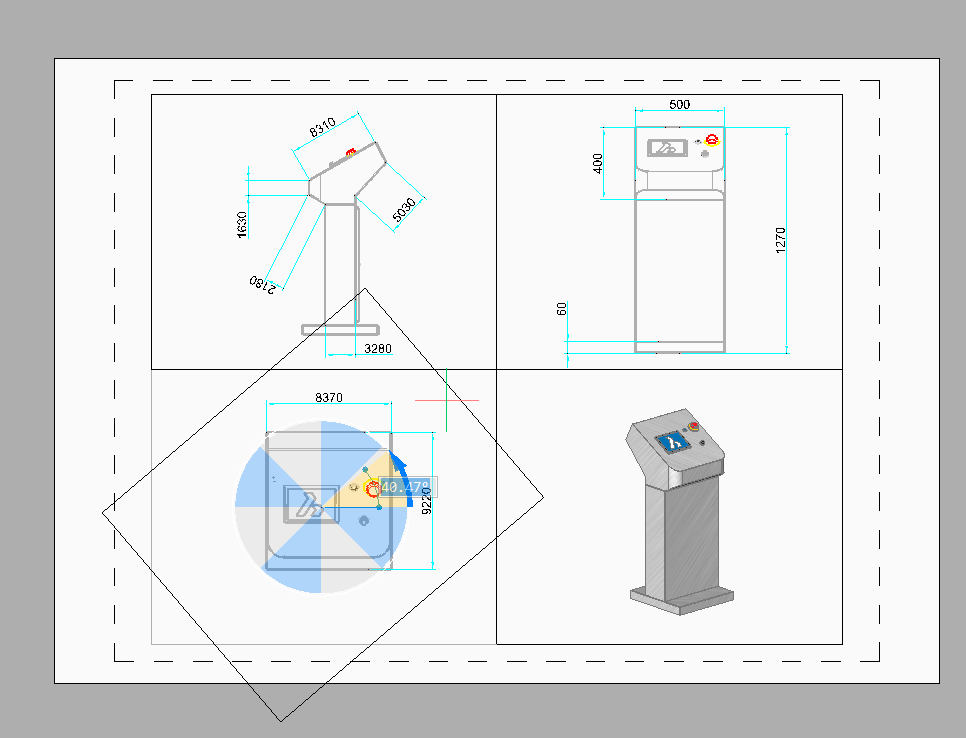 rotate a viewport in BricsCAD