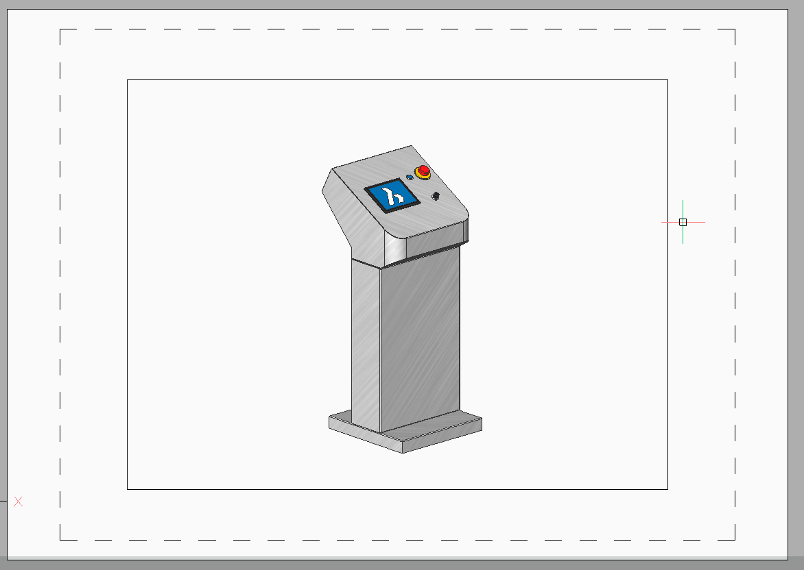 BricsCAD paperspace layout