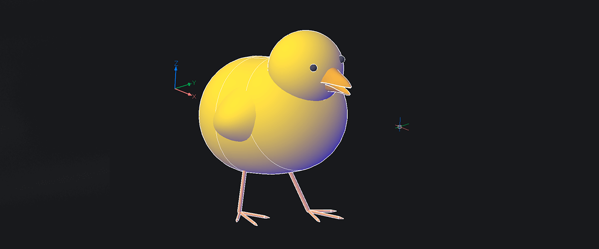 How to Model a 3D Chick – Easy Builds