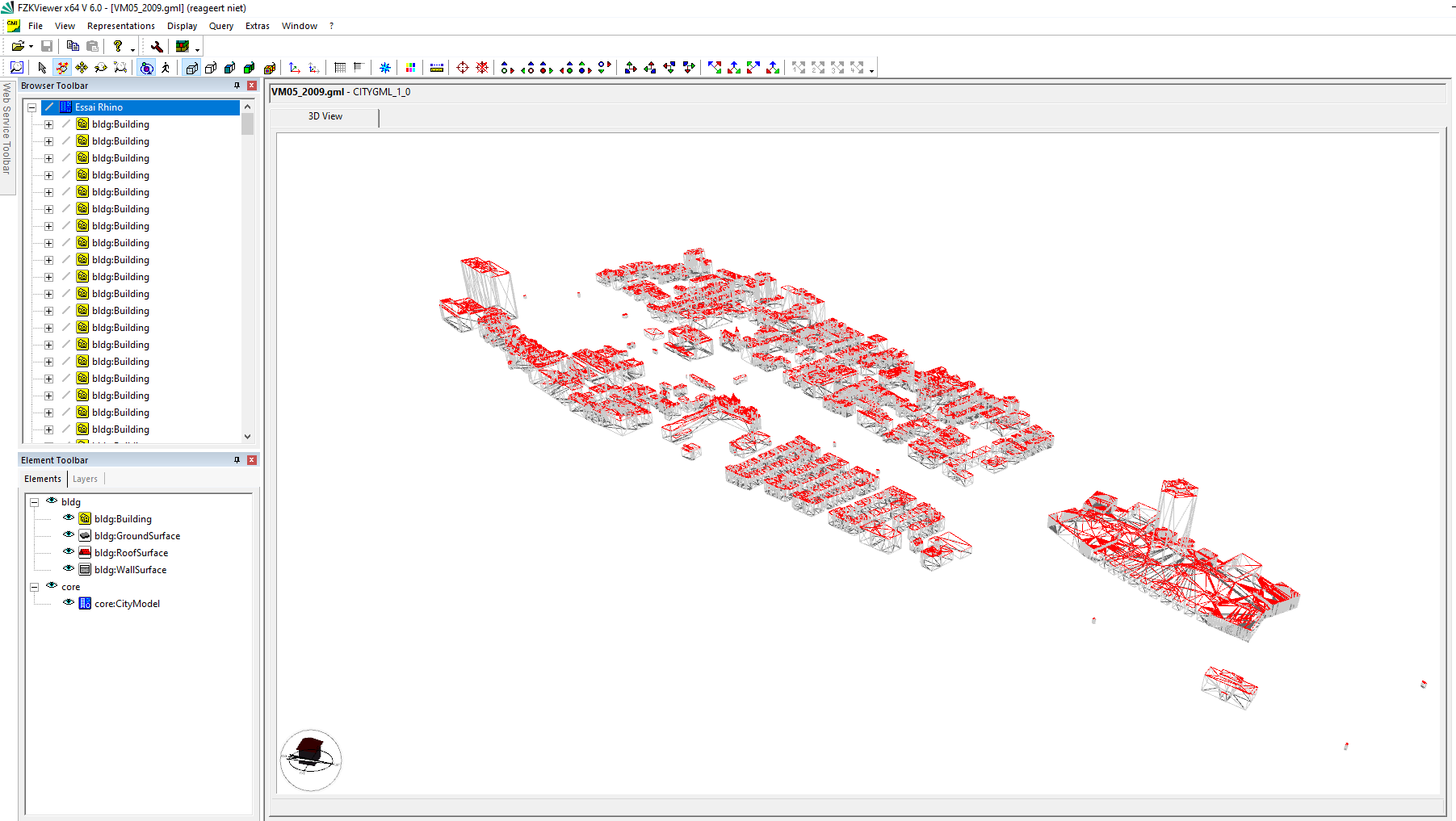 3d city building model gis data