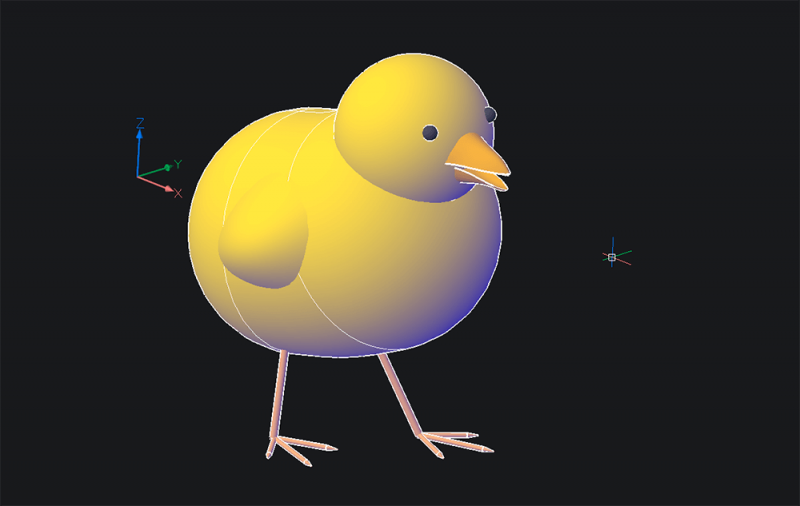 how to make a 3d chick model in BricsCAD